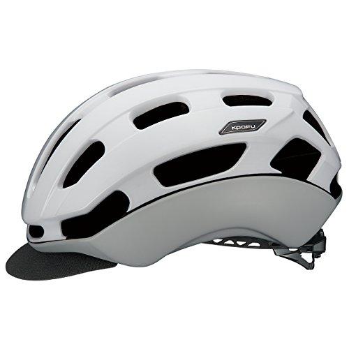 OGK KABUTO(オージーケーカブト) ヘルメット BC-GLOSBE マットホワイトグレー L/XL (頭囲 59-60cm~60-61cm)