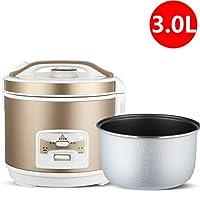 炊飯器保温機能プレミアム品質5L 4L 3Lホワイトゴールドインナーポットヘラ計量カップライス最大20人 A