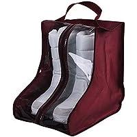 ultrazhyyne – 202828 CM PVCブーツ靴防塵バッグストレージポーチ靴プロテクターバッグホームSupplies レッド U-32843250191-VVV-Bag-Burgundy