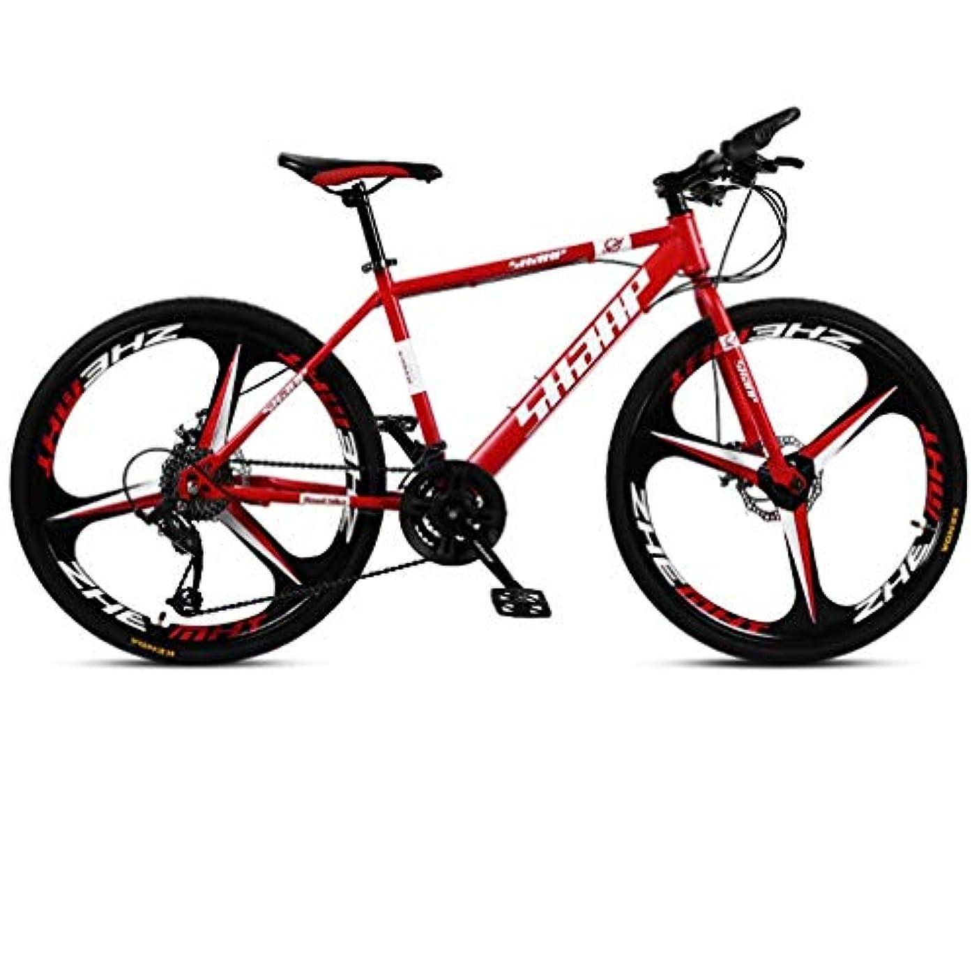 極めて事実謙虚アウトドア 21スピードMTBサイクリングマウンテンバイクは、ビーチ雪の自転車クルーザーバイクディスクブレーキについては、成人男性と女性24インチレッドクルーザーバイク自転車