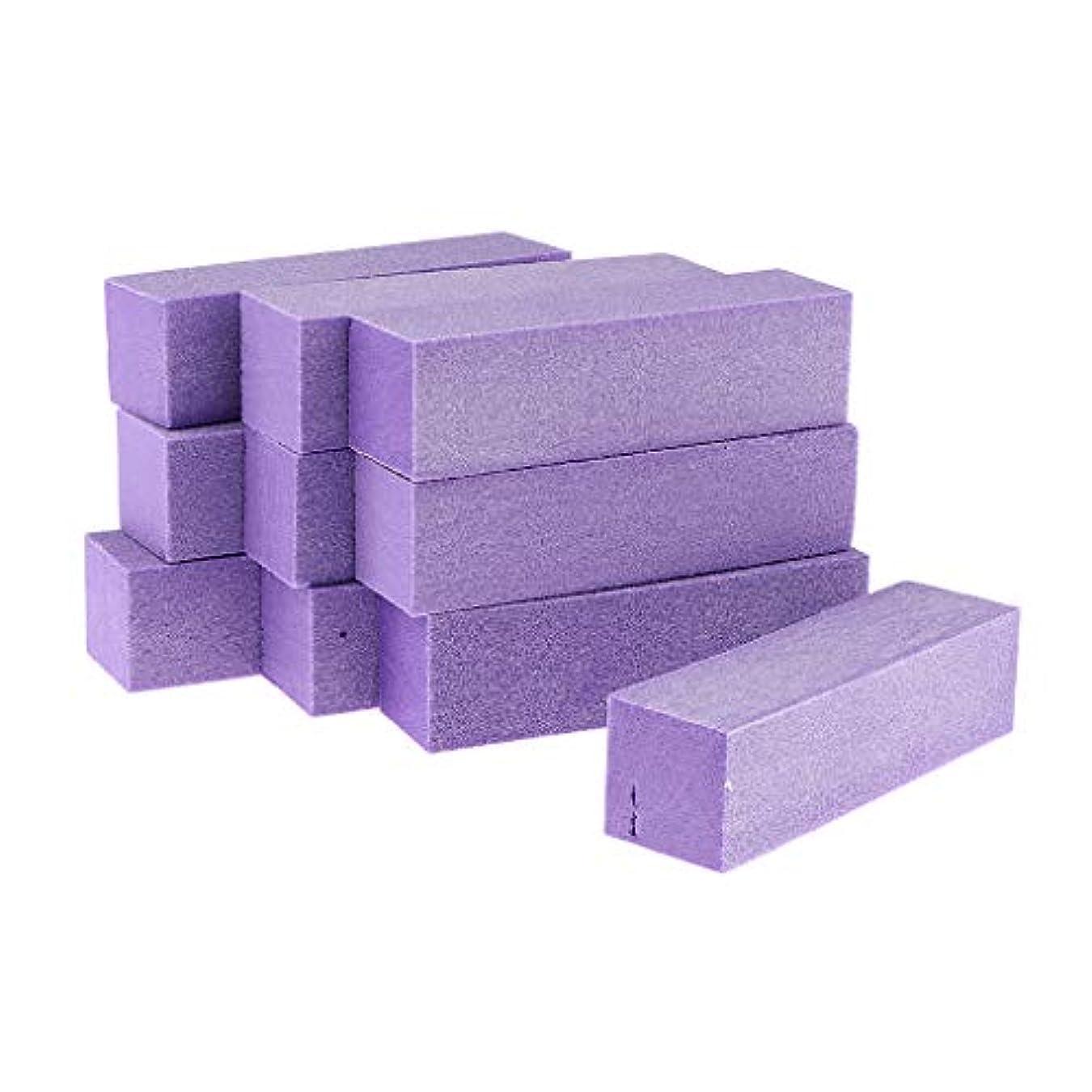具体的に殉教者株式会社Injoyo ネイルアート マニキュア ネイルファイル バッファファイルブロック 爪やすり 爪磨き 全5色 - 紫