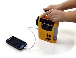 地震防災災害対策エマージェンシーライト レスキューライト停電手動充電可能ラジオライト 防災グッズ