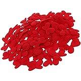 Fenteer 約100枚 紙吹雪 コンフェッティ サテン 花びら 造花 テーブル 装飾 ウェディング 可愛い 3色選べる  - 赤