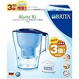 ブリタ ポット型浄水器2.0L【カートリッジ3個入】BRITA アルーナXL BJ-ABT