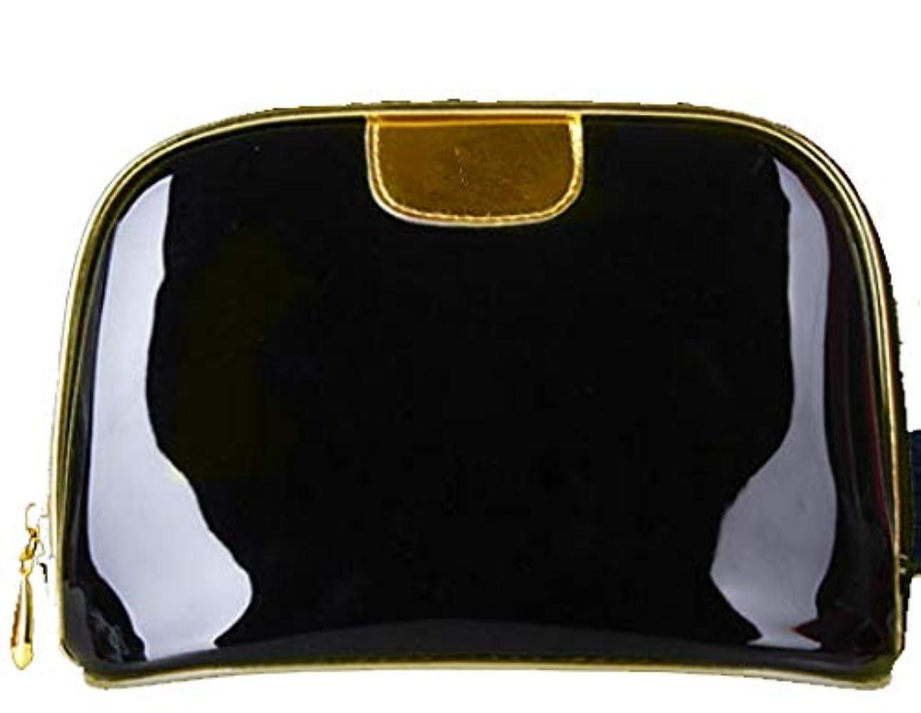 SuperTang 割引 化粧ポーチ コスメポーチ メイクポーチ 大容量 化粧品収納 ミニ 財布 小物入れ 普段使い 出張 旅行 メイク ブラシ バッグ 化粧バッグ バニティポーチ 機能的 ブラック