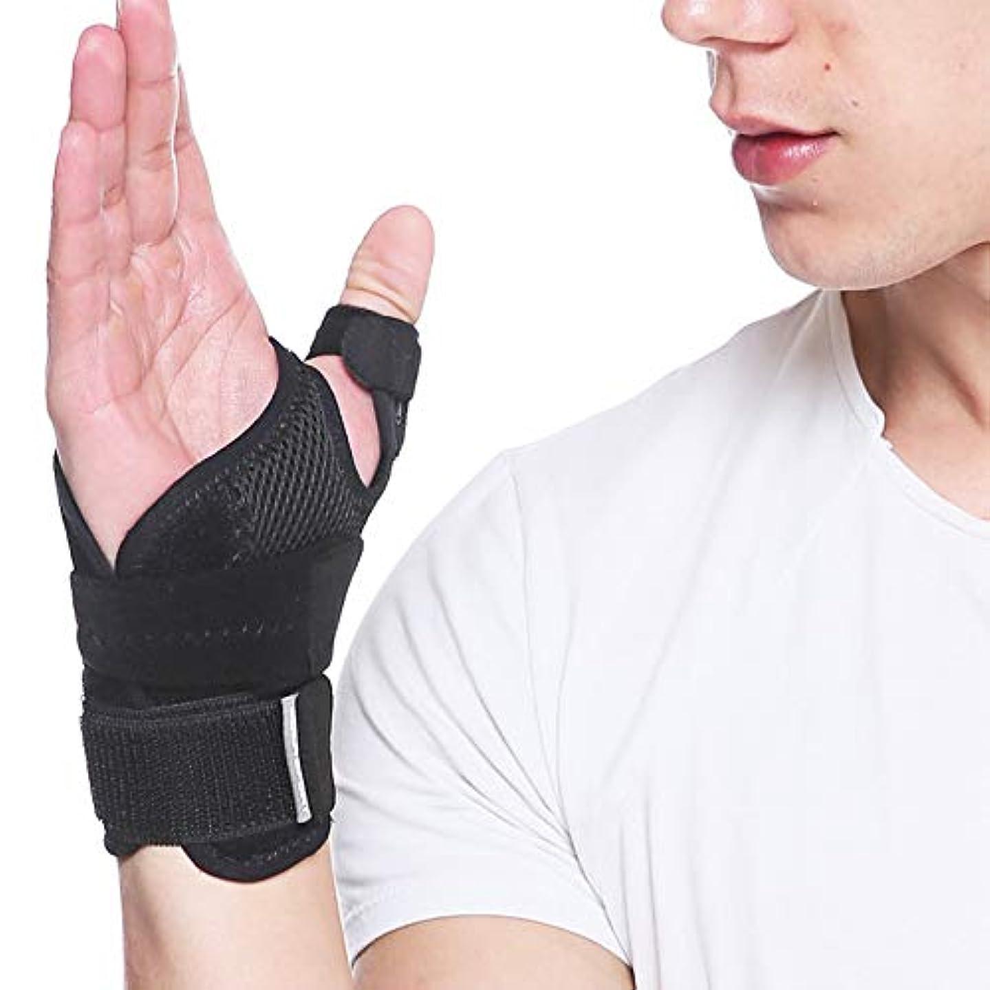 エキスパート主人誤って関節炎と腱炎の痛みを緩和するためのスプリント付き調整可能な手首サポートブレース-左手と右手にフィット1ピース