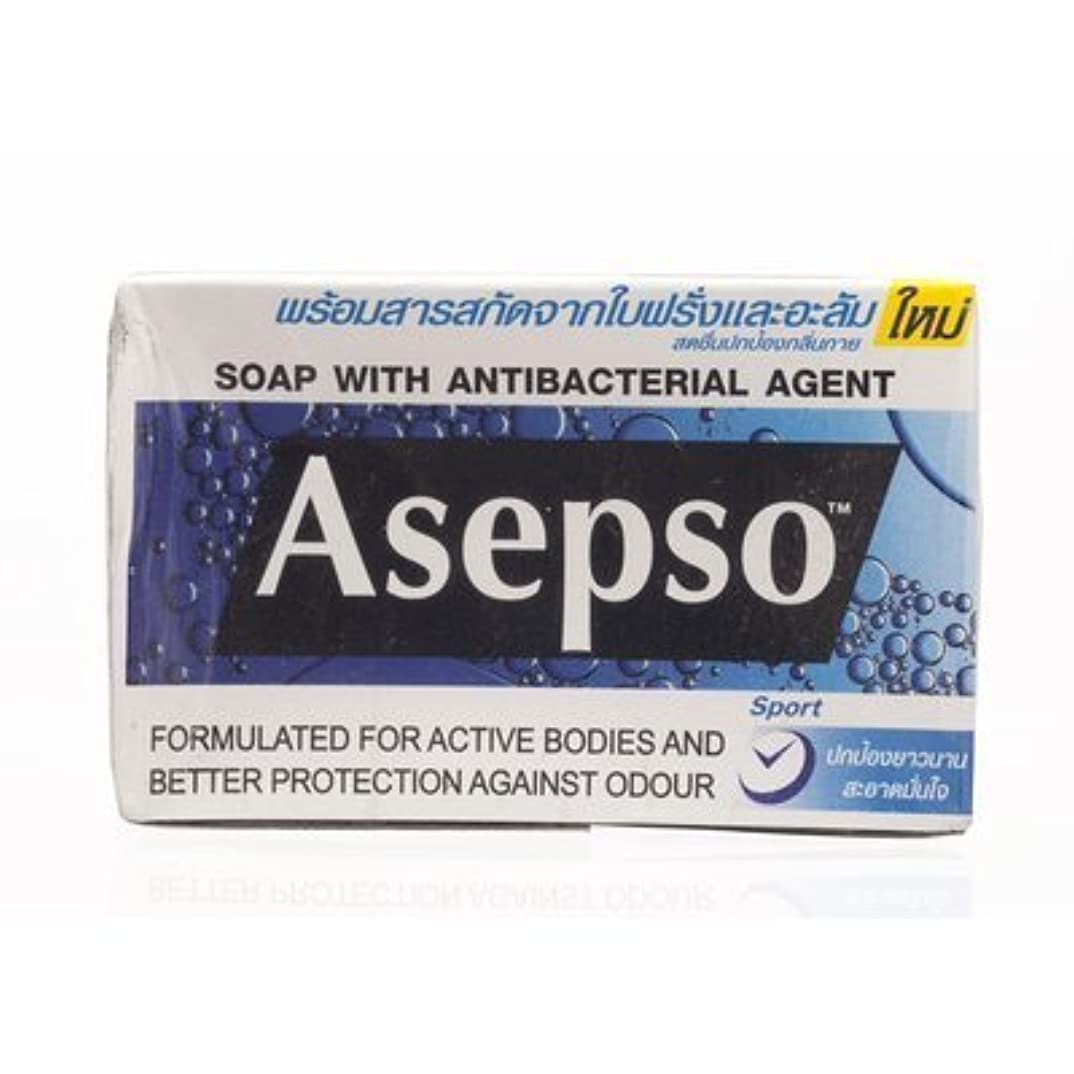 影響力のあるコテージ数学的なAsepso Bar Soap Sport 80g. (Pack of 6) by Asepso