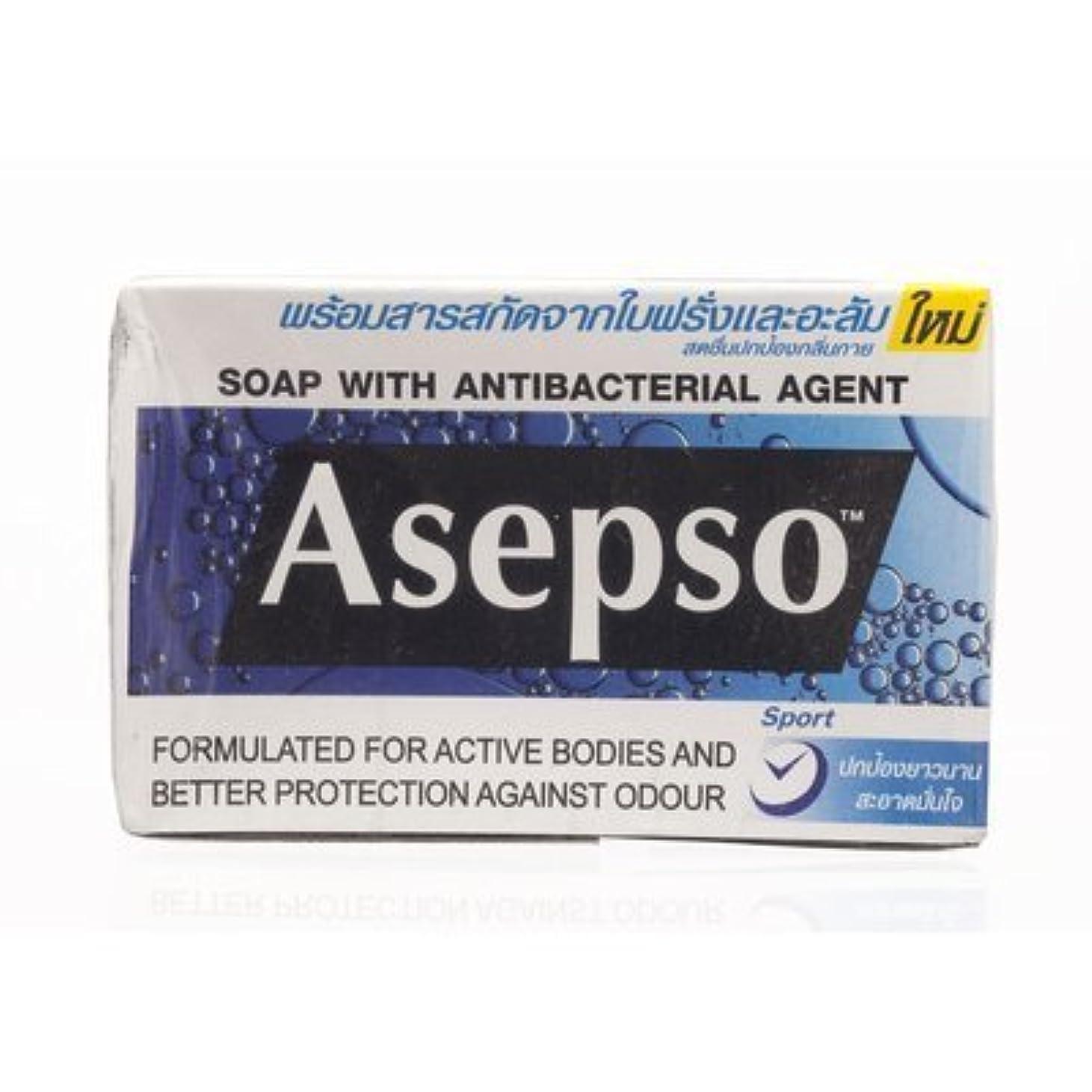 エンディング同化よろめくAsepso Bar Soap Sport 80g. (Pack of 6) by Asepso [並行輸入品]