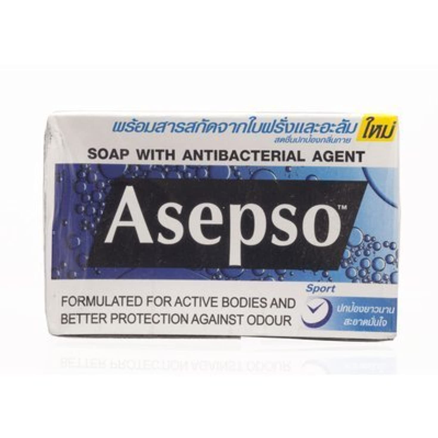透明にゆでる記念品Asepso Bar Soap Sport 80g. (Pack of 6) by Asepso