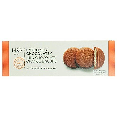 英国 マークス&スペンサー / ミルクチョコレート オレンジラウンドビスケット 230g 英国産 Extremely Chocolatey Milk Chocolate Orange Round Biscuits Made in the UK