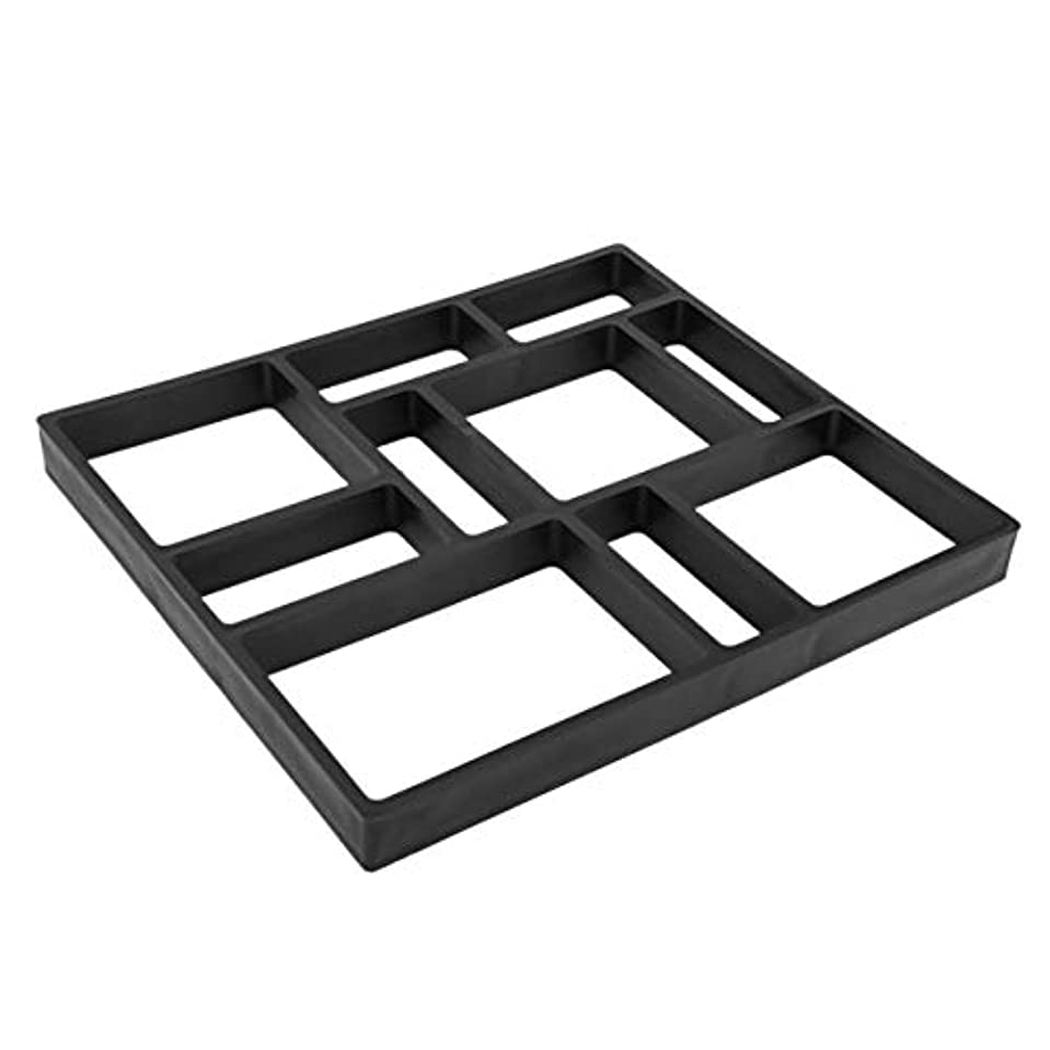 パッチスペイン関係するSaikogoods DIY不規則な/矩形パターンパーソナライズされた舗装のコンクリートレンガ石屋外装飾庭パスのメーカー芝生 黒