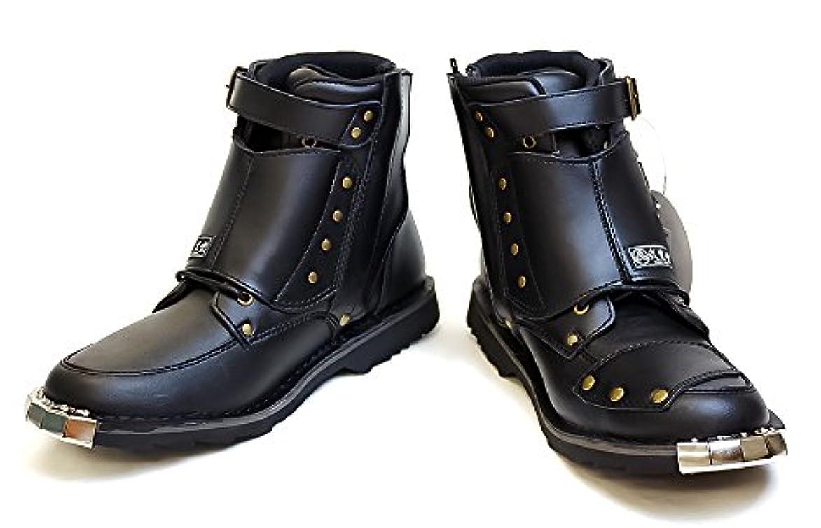 対象意図祝福するHK 弐黒堂 スピードライド ジッパーブーツ 兼光 バイクブーツ [ブラック 黒 26.5cm] ライディングブーツ