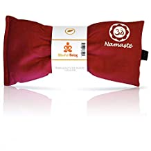 Blissful Being Namaste Yoga Eye Pillow with Lavender - Lavender Eye Pillow Perfect for Savasana, Meditation, Relaxation, Yoga and Stress Relief - Soft, Organic Cotton (Pink)