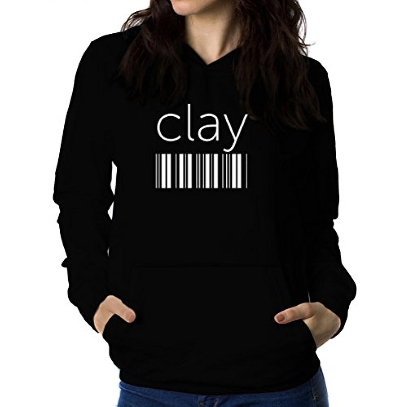 製品ベアリング素晴らしい良い多くのClay barcode 女性 フーディー