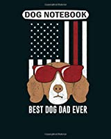 Dog Notebook: best dog dad ever beagle  College Ruled - 50 sheets, 100 pages - 8 x 10 inches