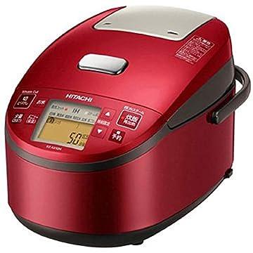 日立 炊飯器 5.5合 圧力スチームIH式 日本製 3段階炊き分け機能搭載 おいしい少量炊き 蒸気カット RZ-AX10M R