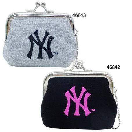 0c6fd5fb9b74 ニューヨーク・ヤンキース ミニがまぐちコインケース(NY黒ピンク) メジャーリーグベースボールMLB