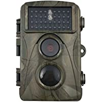 OSEI トレイルカメラ 野生動物調査用野外監視カメラ 暗視カメラ 狩猟モニターカメラ 6ヶ月超長待機 IP56防水 1200万画素 20M検知距離 500万のCMOSセンサー付き 1200万画素 HD動画対応モデル 動体検知 IP54防水仕様  日本語取扱説明書あり