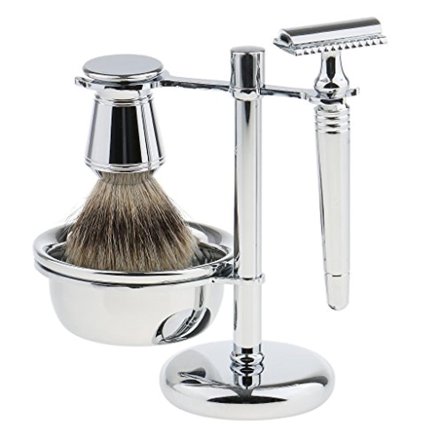 良心的床を掃除する委任シェービング スタンド ブラシ カミソリ ボウル 髭剃り ひげそり メンズ プレゼント