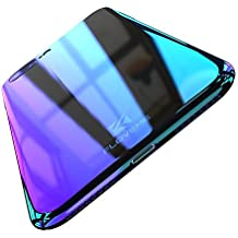 FLOVEME Apple iPhone 7/iPhone 8 Case, Luxury Slim Fit Gradual Colorful Gradient Change Color Ultra Thin Lightweight Electroplating Bumper Anti-Drop Clear Hard Back Cover Holder, Transparent Purple