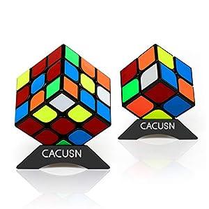 スピードキューブ CACUSN 進化型 2個セット(2×2、3×3) 回転スムーズ 競技用 立体パズル 世界基準配色 ver.2.0  パズルスタンド付き