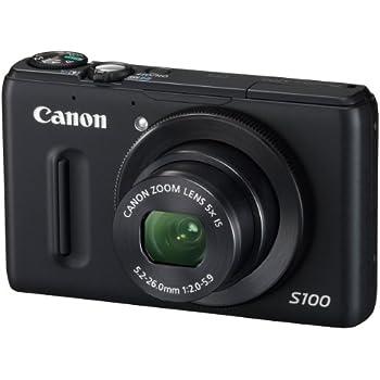 Canon デジタルカメラ PowerShot S100 ブラック PSS100(BK) 1210万画素 広角24mm 光学5倍ズーム 3.0型TFT液晶カラーモニター