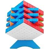 XMD 磁石 魔方 立体パズル【磁石内蔵】 ポップ防止 ステッカーレス 脳トレ Magnetic Magic Cube (磁石キューブ 7x7)