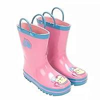 [FollowDream] レインブーツ キッズ ブーツ 女の子 子供用 雨靴 キッズレインブーツ 持ち手つき 子供靴 長靴 ロングレインブーツ ジュニア 可愛い お洒落 滑りにくい 雨の日 通学 プレゼント 梅雨対策