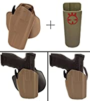 Safariland Holster CZ 75cz-759mm /。40s & W /。22LR 75p-01sp-01sp01Phantom p09578–450–551Wide Long pro-fit GLS標準フレームmulti-fit右手、FDEタン+ Ultimate Arms Gear Magポーチ