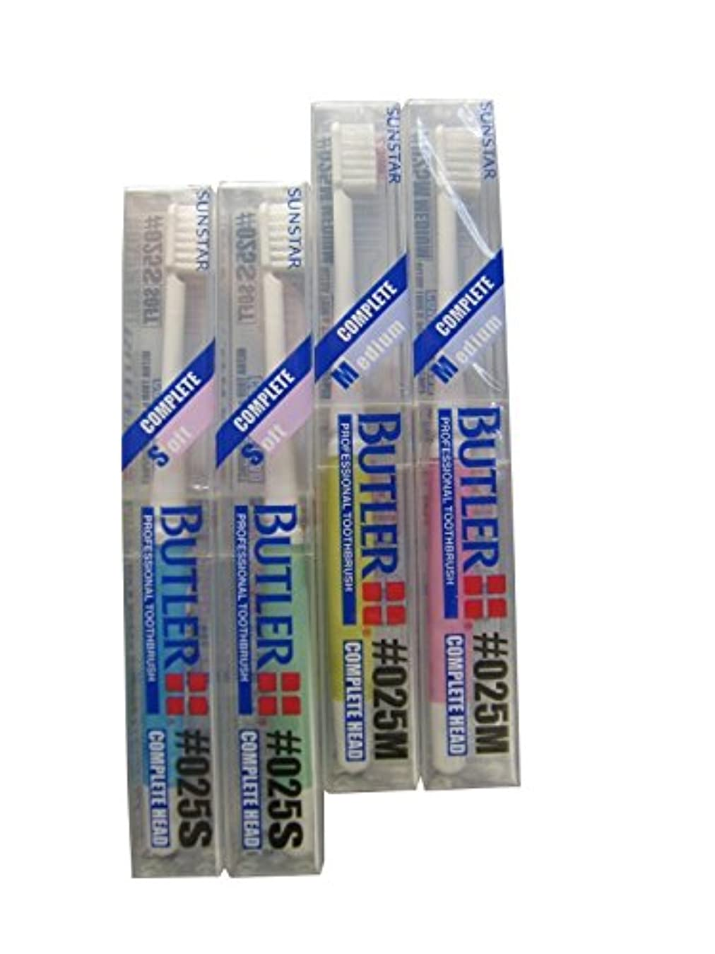 路地レンチ低下12本 サンスター バトラー 歯ブラシ #025S/#025M (M(ミディアム))