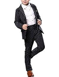 (チェリーレッド) CherryRed 男の子 フォーマルスーツ 上下セット 縦縞 2色