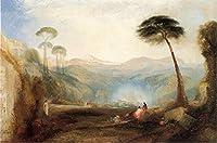 ¥5K-200k 手書き-キャンバスの油絵 - 美術大学の先生直筆 - Golden Bough after Joseph Mallor William Turner Thomas Moran 絵画 洋画 複製画 ウォールアートデコレーション -サイズ12
