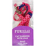 Furwear Fashion Cat Harness with Lead, Small, Pink