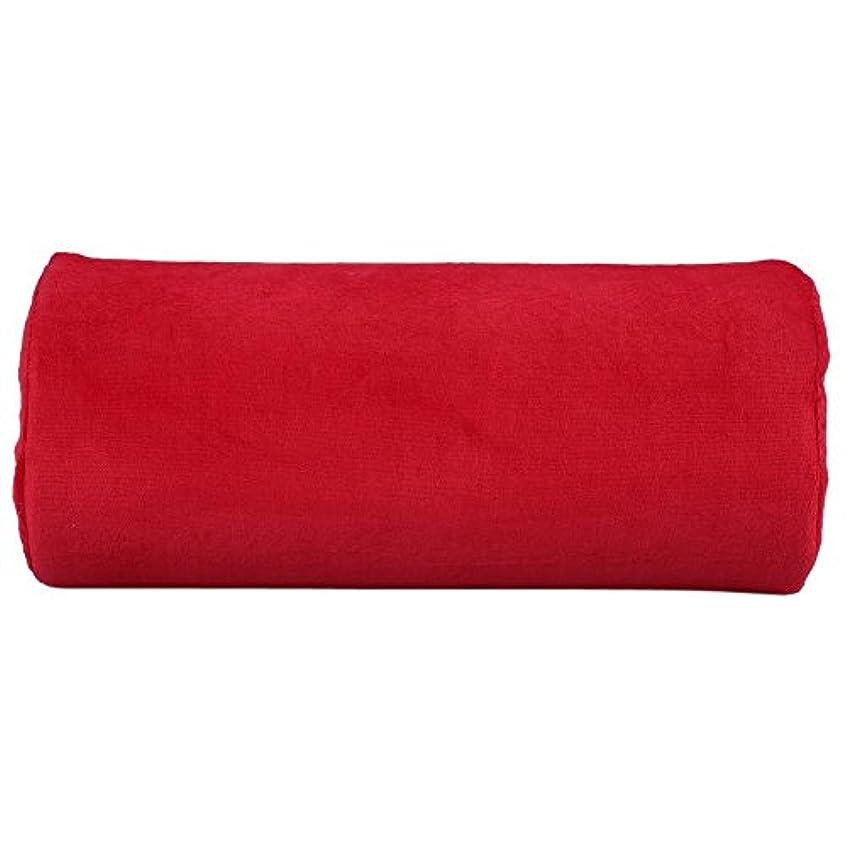 ナチュラル冷えるエチケットサロンハンドレストクッション、ネイルアートソフトピロー(赤), パーソナルハンドレストクッションネイルアートぬいぐるみ枕取り外し可能なマニキュアメイクツールレッド