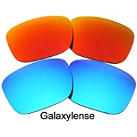 Galaxylense Men's Replacement Lenses For Oakley Holbrook Polarized Blue&red
