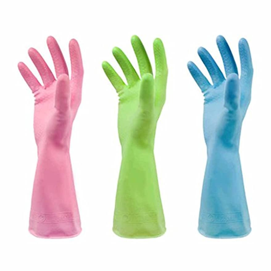 収まる話をする協定使い捨て手袋 PVC滑り止め耐久手袋キッチン多機能防水油手袋 (Size : S)