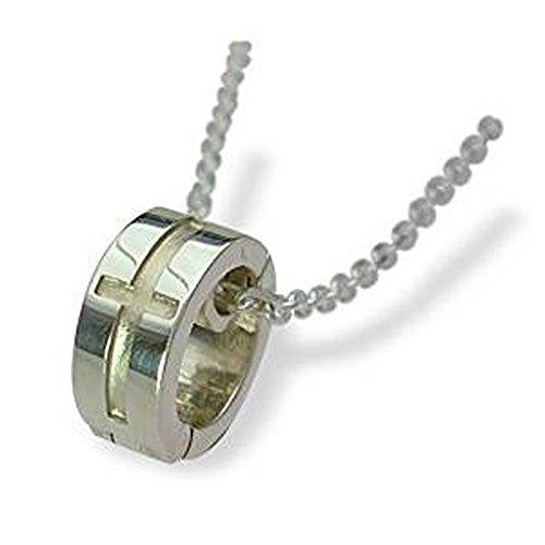 [해외]LOVERS SCENE 실버 목걸이 남자 반지 홀더 LSP0066-55/LOVERS SCENE Silver Necklace Men`s Ring Holder LSP0066-55