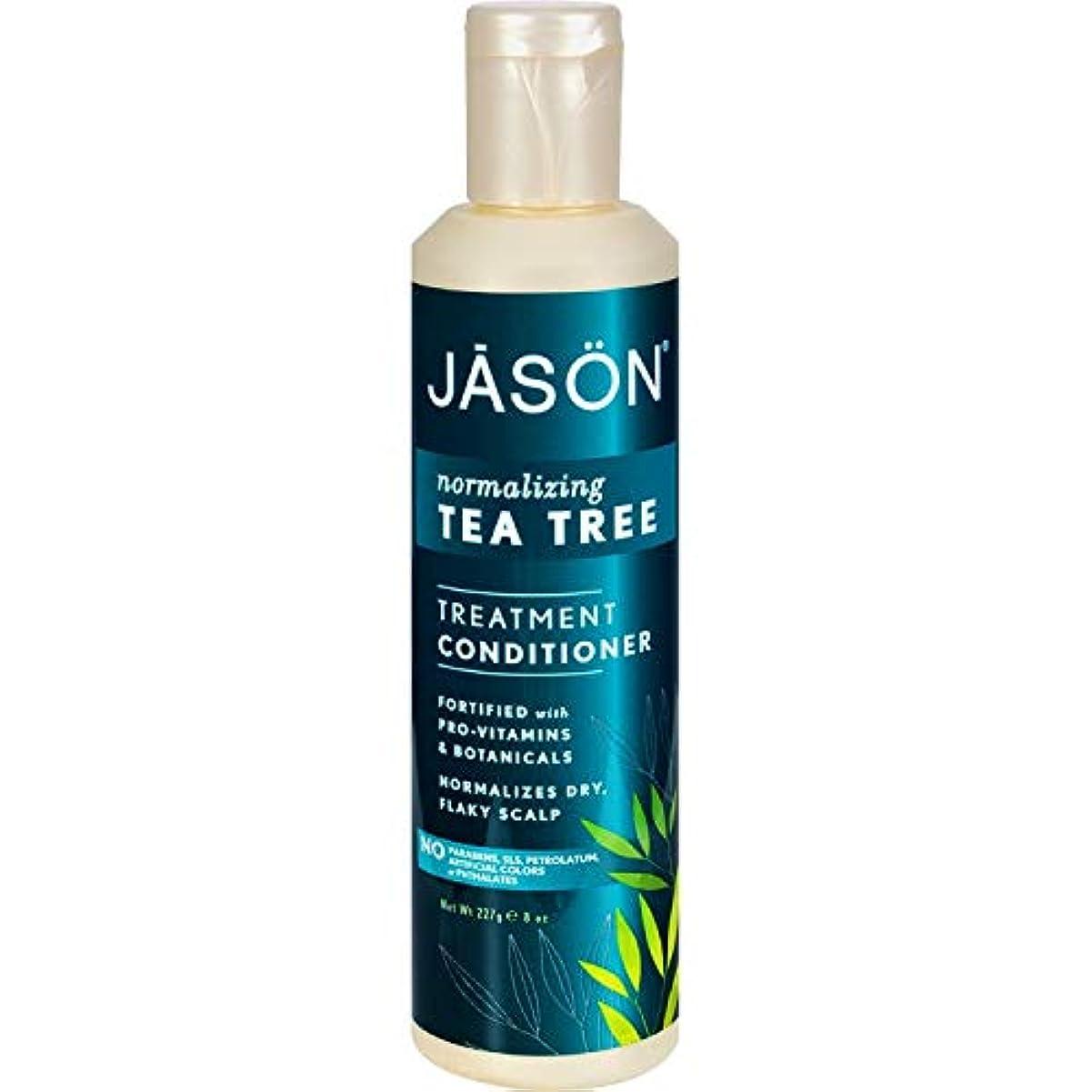 くすぐったい整然とした特権Jason Natural ティーツリー頭皮ノーマライズヘアーコンディショナー - 8オンス(4パック)