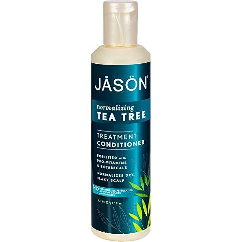 意味する大工強調Jason Natural ティーツリー頭皮ノーマライズヘアーコンディショナー - 8オンス(4パック)