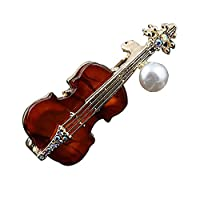 Fablcrew ブローチ バイオリン 胸飾り レディース ピン ジュエリー エレガント 美しい アクセサリー コサージュ 入園式 入学式 卒園式 卒業式 結婚 フォーマ 記念式典