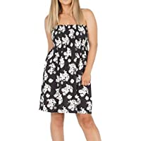 b4dcd6bf4cc Rimi Hanger Womens Floral Gathered Ruched Sheering Boobtube Strapless  Bandeau Swing Top Small XX Large