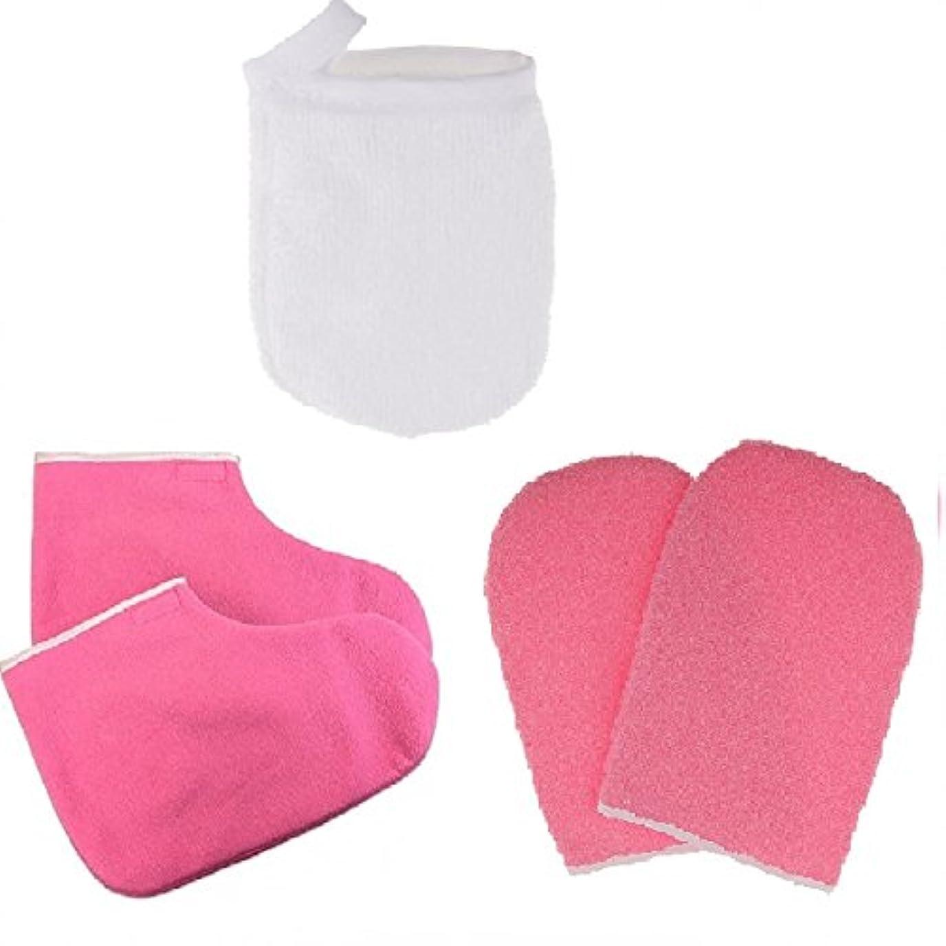 カプセル敬の念写真B Blesiya グローブ パラフィンワックス保護手袋 メイクリムーバー パッド パラフィンワックス手袋