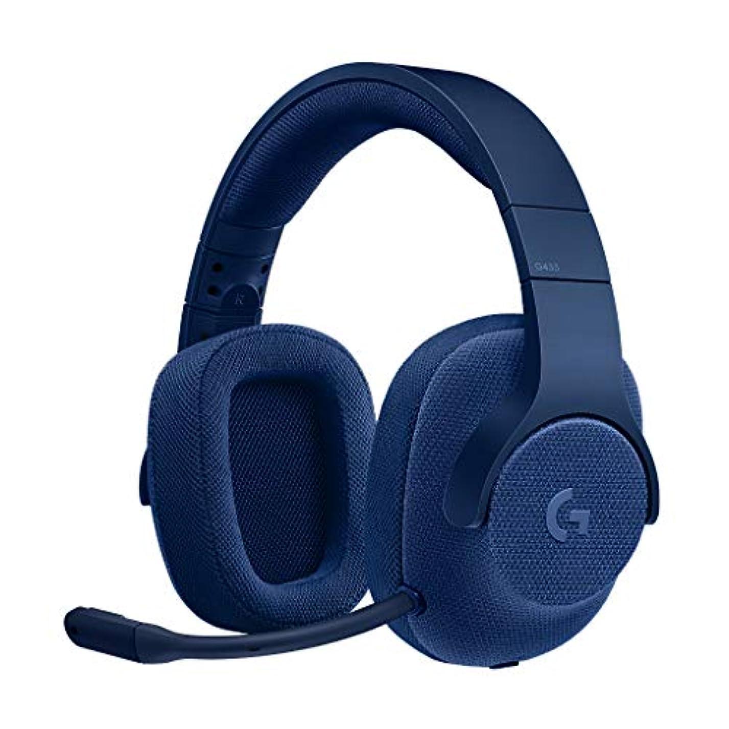 セットアップニュースかもしれないLogicool G ゲーミングヘッドセット G433BL ブルー Dolby 7.1ch ノイズキャンセリング マイク 付き PC PS4 Switch 3.5mm usb 軽量 G433 国内正規品 2年間メーカー保証