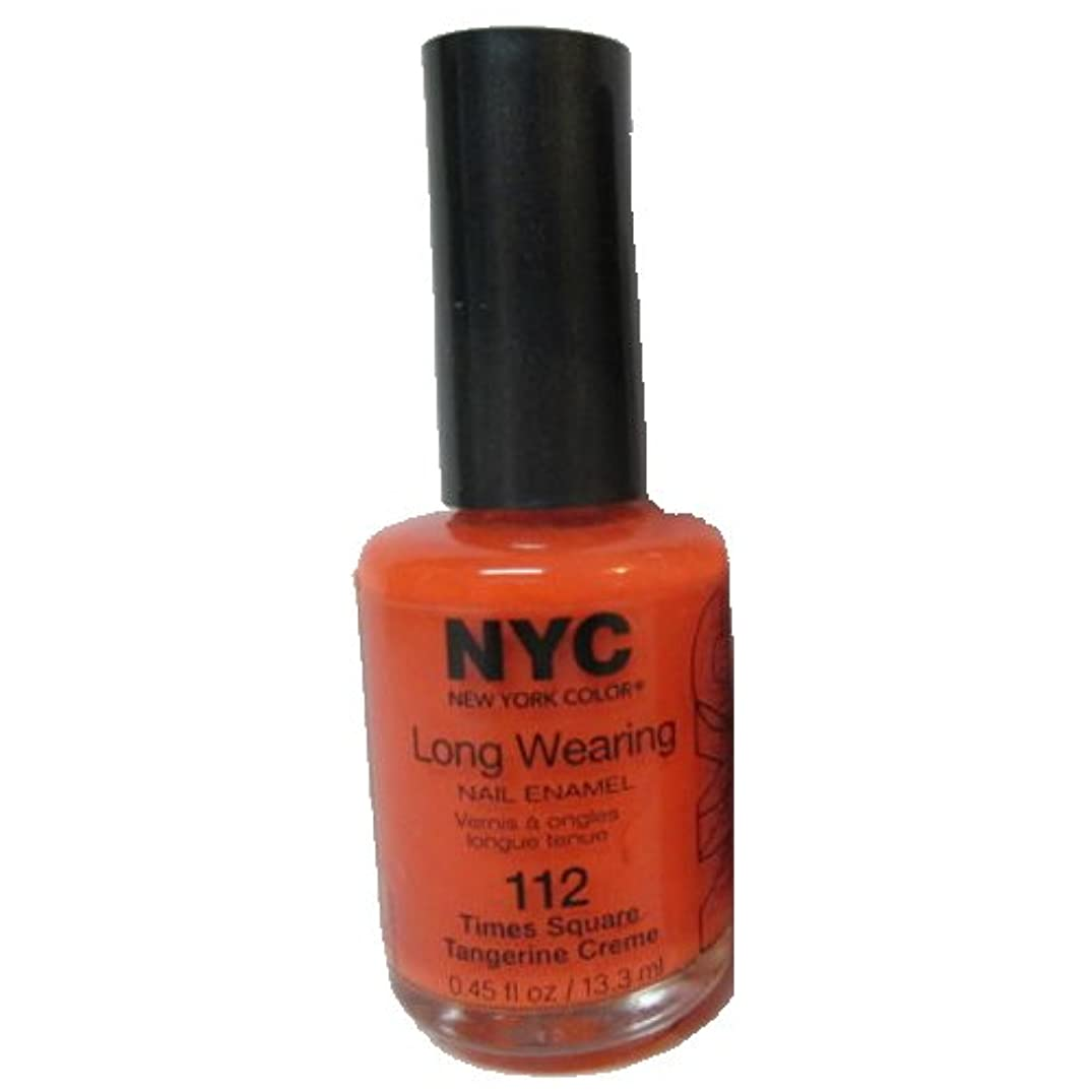範囲ベルベットアセ(3 Pack) NYC Long Wearing Nail Enamel - Times Square Tangerine (並行輸入品)