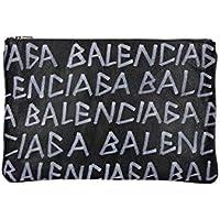 Balenciaga Men's 5355320EE121080 Black Leather Clutch