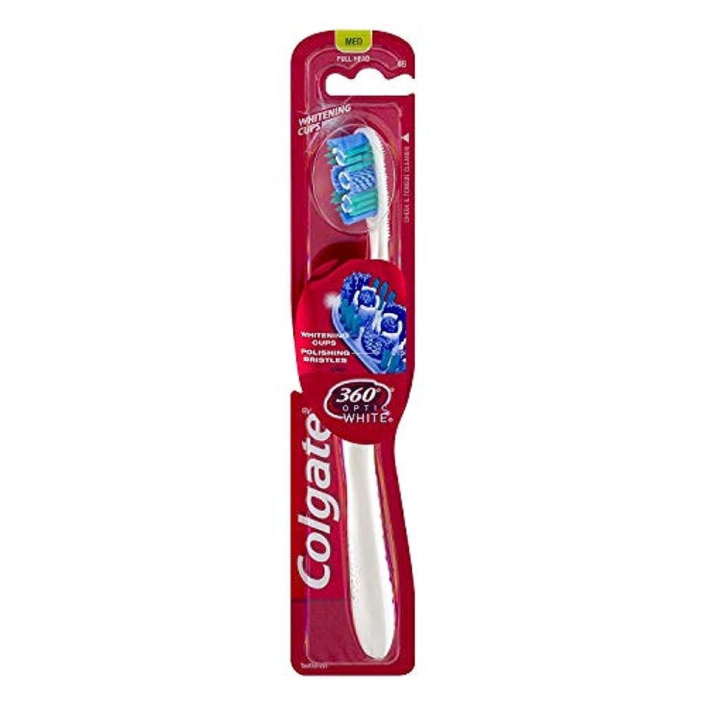 振り返る協定産地Colgate オプティックホワイト360 Tサイズ1CTオプティックホワイト360歯ブラシメッド 1パック
