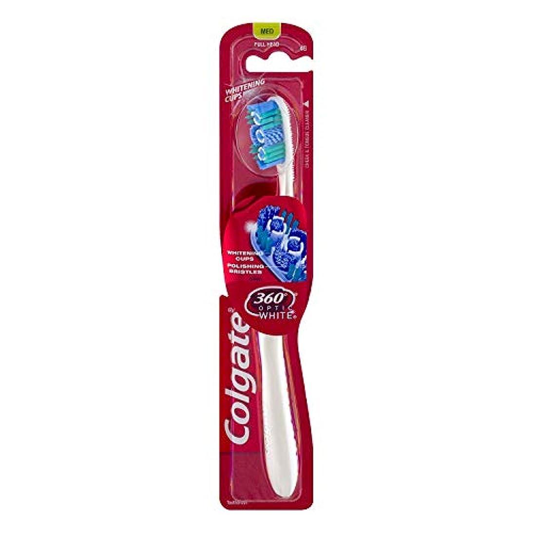 まどろみのある覆す緩むColgate オプティックホワイト360 Tサイズ1CTオプティックホワイト360歯ブラシメッド 1パック