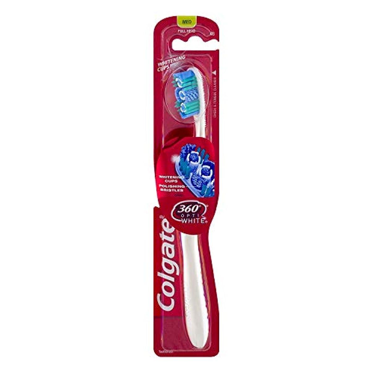 誘う熱狂的な折るColgate オプティックホワイト360 Tサイズ1CTオプティックホワイト360歯ブラシメッド 1パック