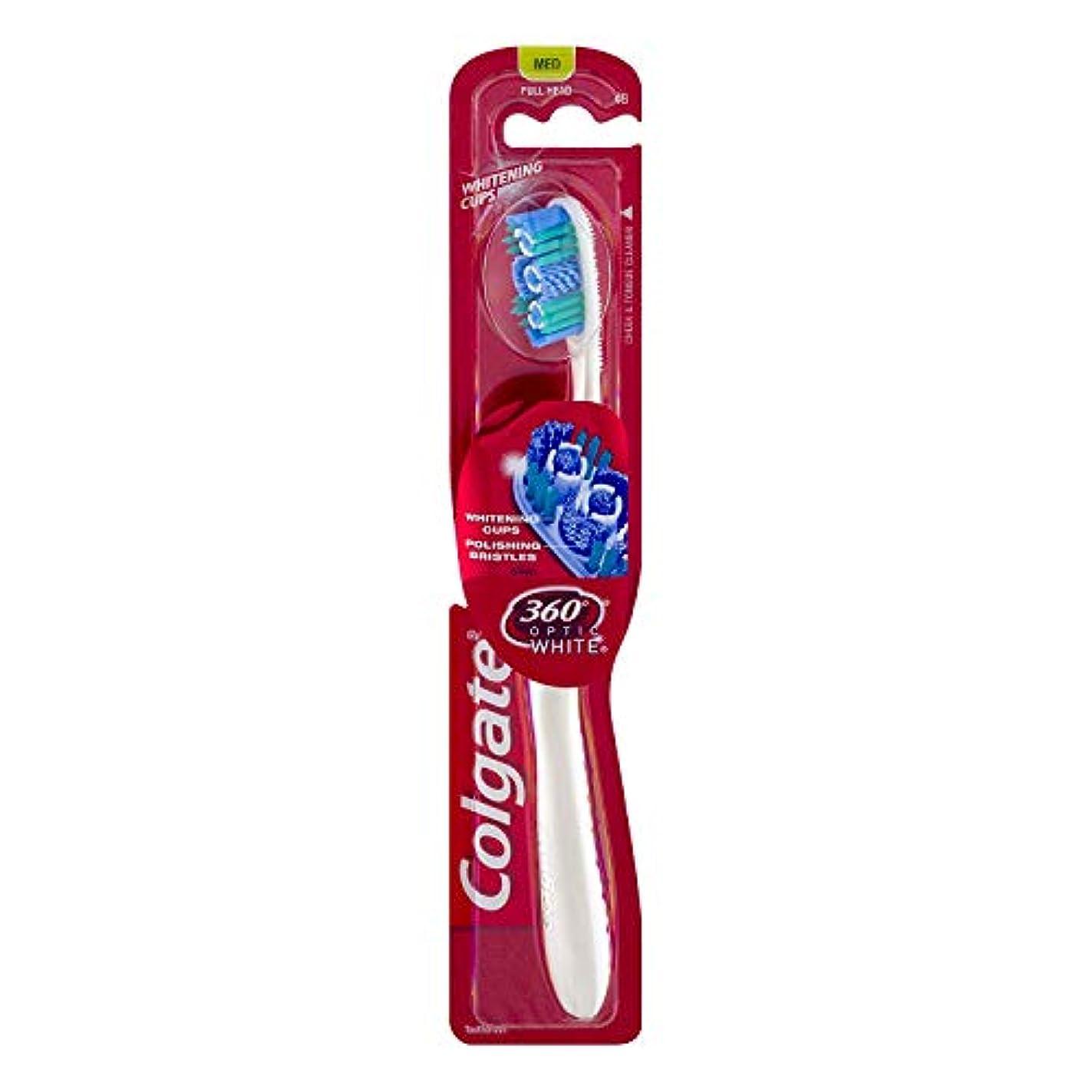 つかの間再び移動するColgate オプティックホワイト360 Tサイズ1CTオプティックホワイト360歯ブラシメッド 1パック