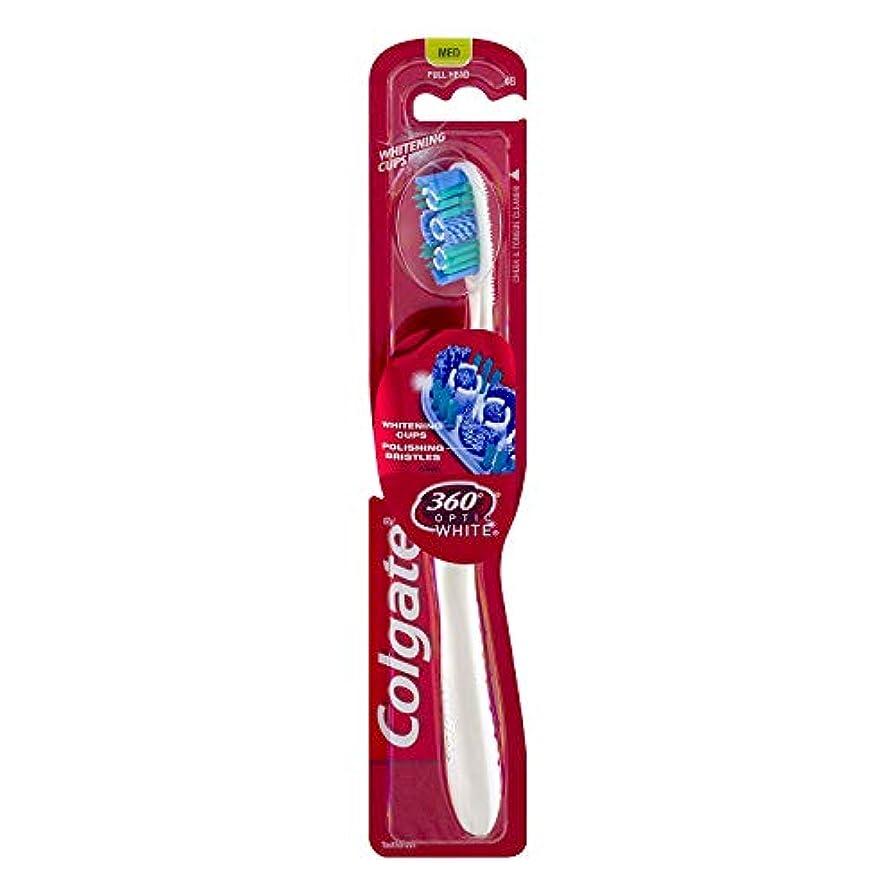 超越する電子レンジランチColgate オプティックホワイト360 Tサイズ1CTオプティックホワイト360歯ブラシメッド 1パック